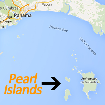 Map pearl Islands